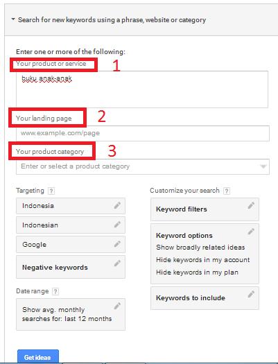 mencari ide keyword