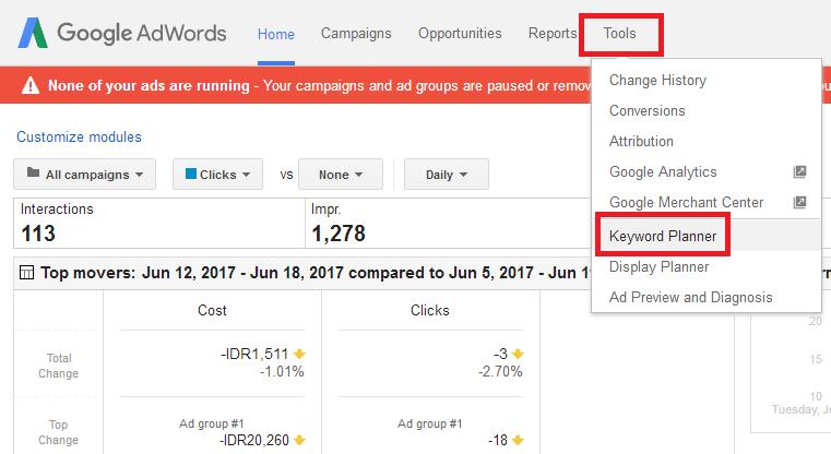 cara menggunakan google planner