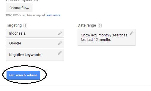 get volume google planner
